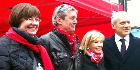 v.l.n.r.: Dr. med. Thela Wernstedt, Michael Höntsch, Doris Schröder-Köpf und Boris Tadic